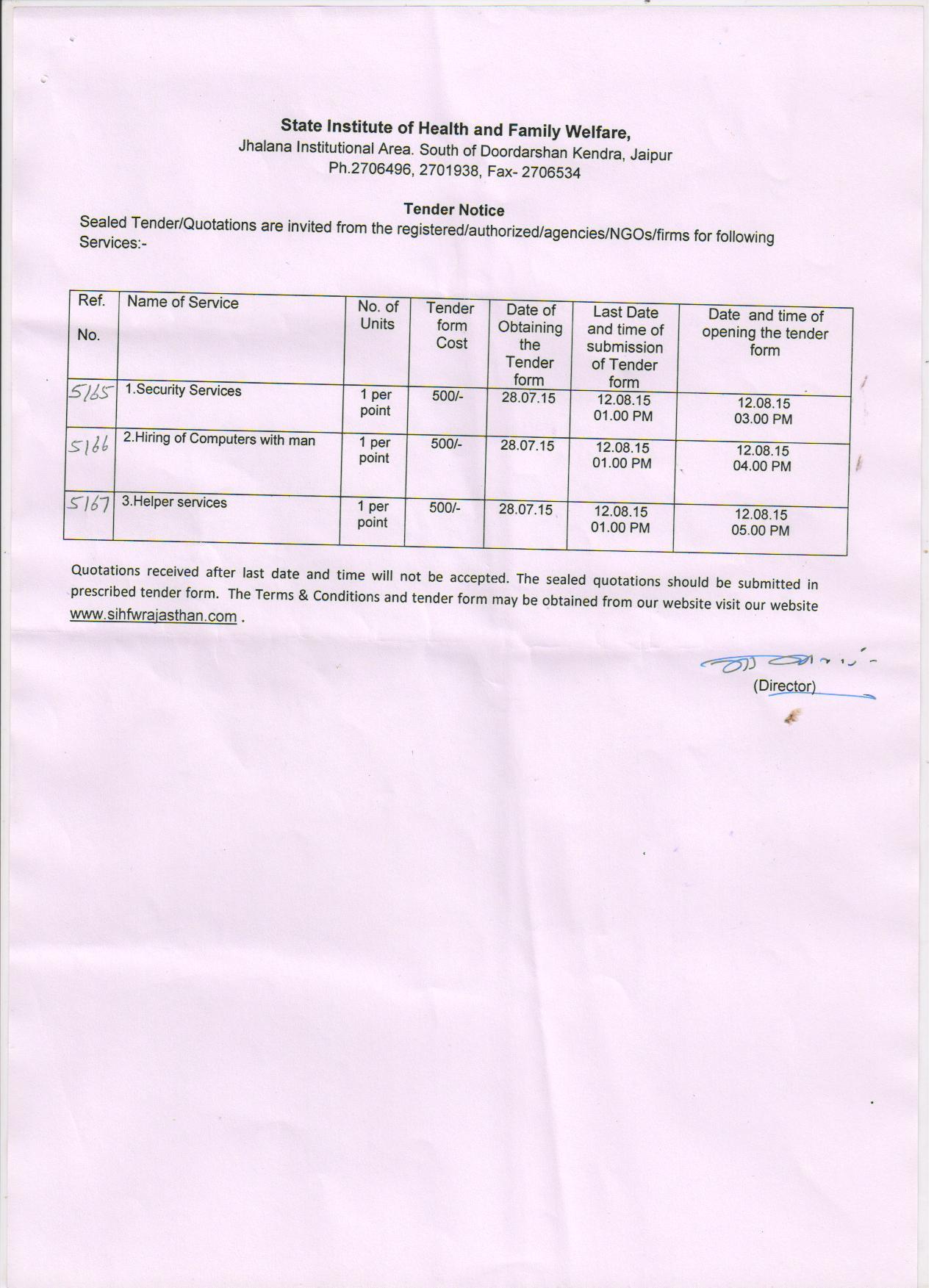 Computer based examination tenders dating 4